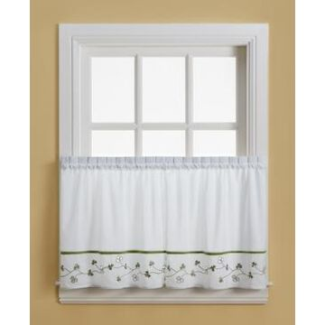 """Chf Clover 58"""" x 36"""" Pair of Tier Curtains"""