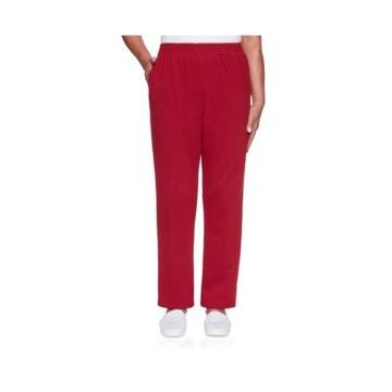 Alfred Dunner Women's Classic French Terry Proportioned Medium Pant
