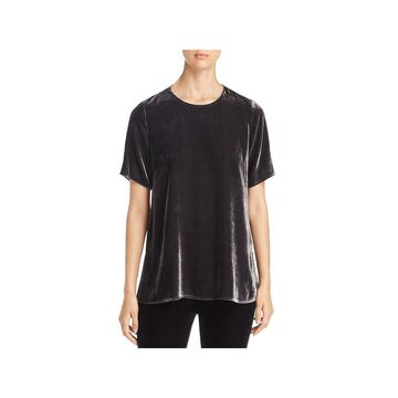 Eileen Fisher Womens Blouse Velvet Short Sleeve