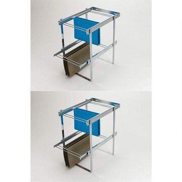 Rev-A-Shelf Series 2 Tier Standard Height Base Cabinet Organizer (2 Pack)