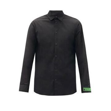 Dsquared2 - Dan Logo-cuff Cotton-poplin Shirt - Mens - Black