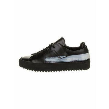 Oamc Leather Colorblock Pattern Sneakers Black Oamc Leather Colorblock Pattern Sneakers