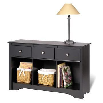 Prepac Black Living Room Console