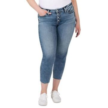 Silver Jeans Co. Plus Size Mid-Rise Suki Skinny Jeans
