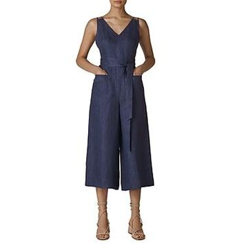 Whistles Alpha Linen Jumpsuit