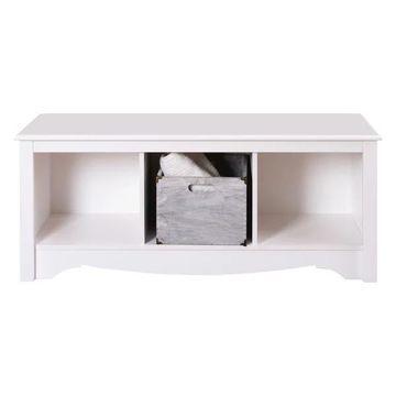 Prepac White Cubbie Bench