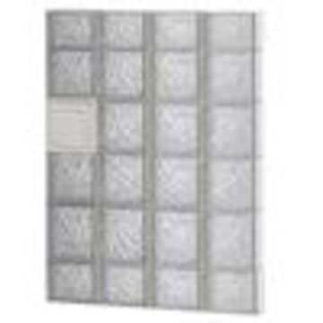 REDI2SET Ice Glass Pattern Frameless Replacement Glass Clear Block Window (Rough Opening: 32-in x 44-in; Actual: 31-in x 42.5-in)