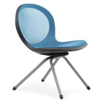 Ofm Net Series 4-Legged Chair, Blue