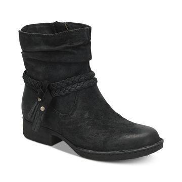 Born Womens Ouvea Leather Closed Toe Ankle Fashion Boots