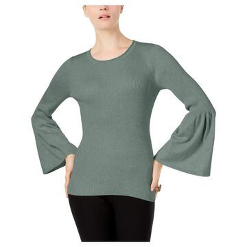 Cupio Womens Pullover Sweater Ribbed Bell Sleeve