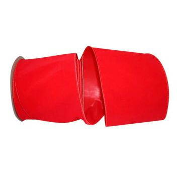"""JAM Paper 4"""" Velvet Wired Heavy Commercial Ribbon in Hot Red   4"""" x 25yd   Michaels"""