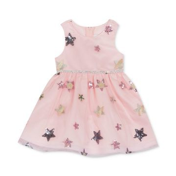 Baby Girls Sequin Star Dress