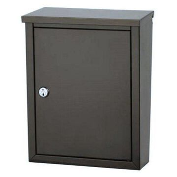 Architectural Mailboxes Chelsea Locking Wall Mount Mailbox, Bronze Finish