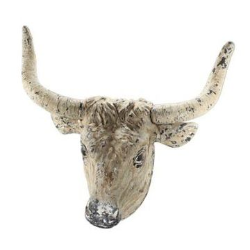 A&B Home Ox Head Sculptural Wall Art
