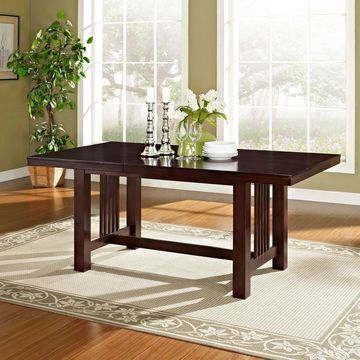Walker Edison Cappuccino Wood Dining Table