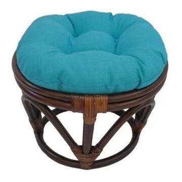 International Caravan Bali Papasan Footstool with Cushion
