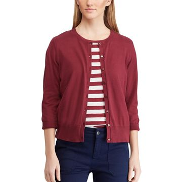 Women's Chaps Ribbed Cardigan
