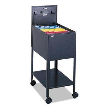 Safco Filing Cart Lockable , Black