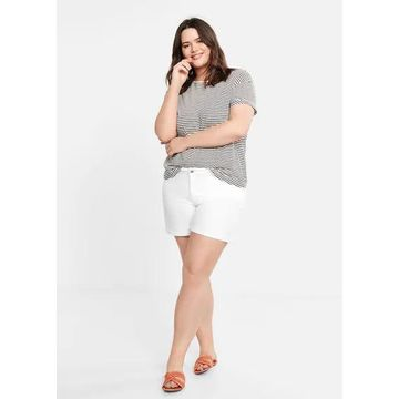 Violeta BY MANGO - Denim shorts white - 16 - Plus sizes
