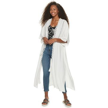 Juniors' American Rag Lace Cover-Up Jacket