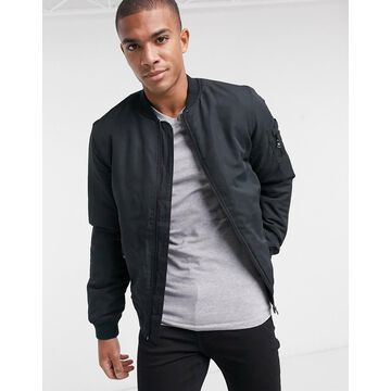 Only & Sons MA1 bomber jacket in black