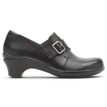 Aravon Womens Stridarc Monk Slip-On Shoes - Size 6 2E Black