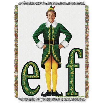 Elf Movie Pose Triple Woven Tapestry Throw
