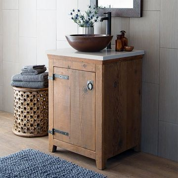 Americana Chestnut 24-inch Reclaimed Wood Bathroom Vanity