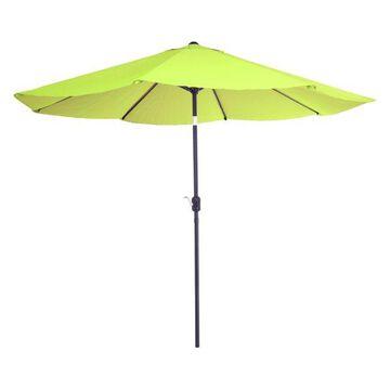 Pure Garden 10' Aluminum Patio Umbrella With Auto Tilt-Lime Green