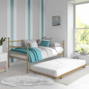 Mainstays Metal Daybed and Trundle, Gold
