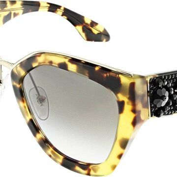 Prada Women's Gradient Minimal Baroque PR10TS-7S00A7-52 Brown Cat Eye Sunglasses