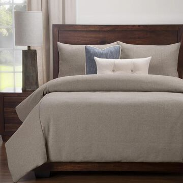 Siscovers Earthy Grey 6-Piece Duvet Cover and Duvet Insert Set