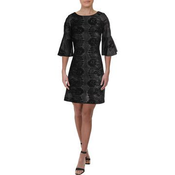 Gabby Skye Womens Floral Party Shift Dress