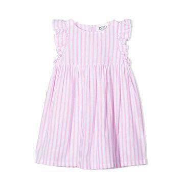 Douuod Pink Cotton-linen Blend Dress