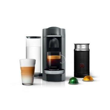 Nespresso by De'Longhi Vertuo Plus Deluxe Coffee & Espresso Maker with Aerocinno Frother