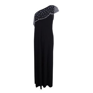 MSK Women's Embellished One-Shoulder Gown - Black