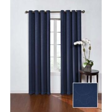 """Eclipse Round and Round Thermaweave Blackout 52"""" x 63"""" Curtain Panel"""