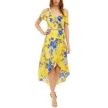 Bcx Juniors' Floral-Print High-Low Dress