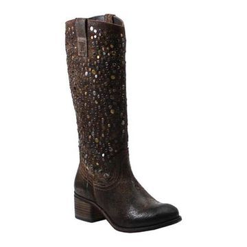 Diba True Women's What To Do Riding Boot Chocolate Leather