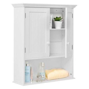Costway Wall Mount Bathroom Cabinet Storage Organizer Medicine Cabinet Kitchen