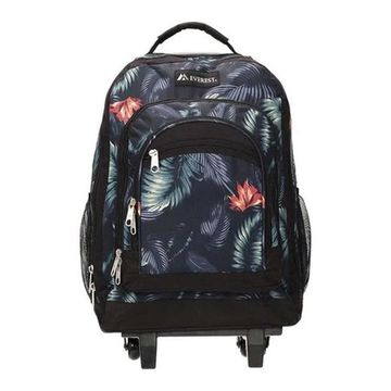 Everest Wheeled Pattern Backpack Dark Tropical - US One Size (Size None)