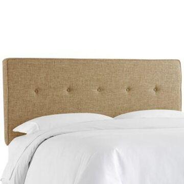 Skyline Furniture Berwick Button Twin Headboard in Zuma Linen