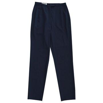 Jil Sander Navy Wool Trousers