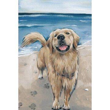 Parvez Taj Happy Doggie Canvas Wall Art