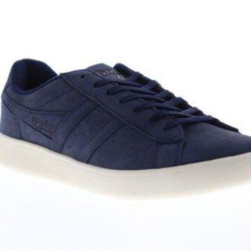 Gola Aztec Nubuck Navy Off White Mens Low Top Sneakers