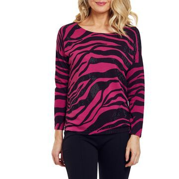 Sparkly Animal Print Cotton Sweater