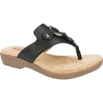 Rialto Women's Bianka Thong Sandal Black Polyurethane