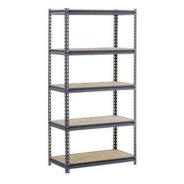 edsal 72-in H x 36-in W x 24-in D 5-Tier Steel Freestanding Shelving Unit