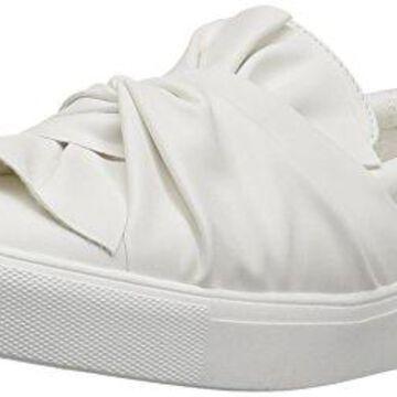 MIA Women's Zoe Fashion Sneaker, White, 7.5 M US