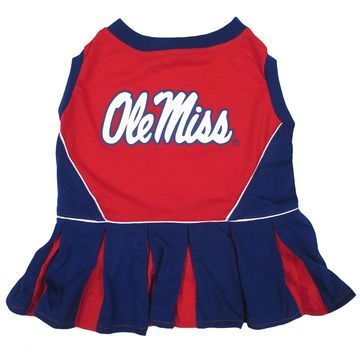 Pets First Mississippi Rebels Cheerleading Outfit